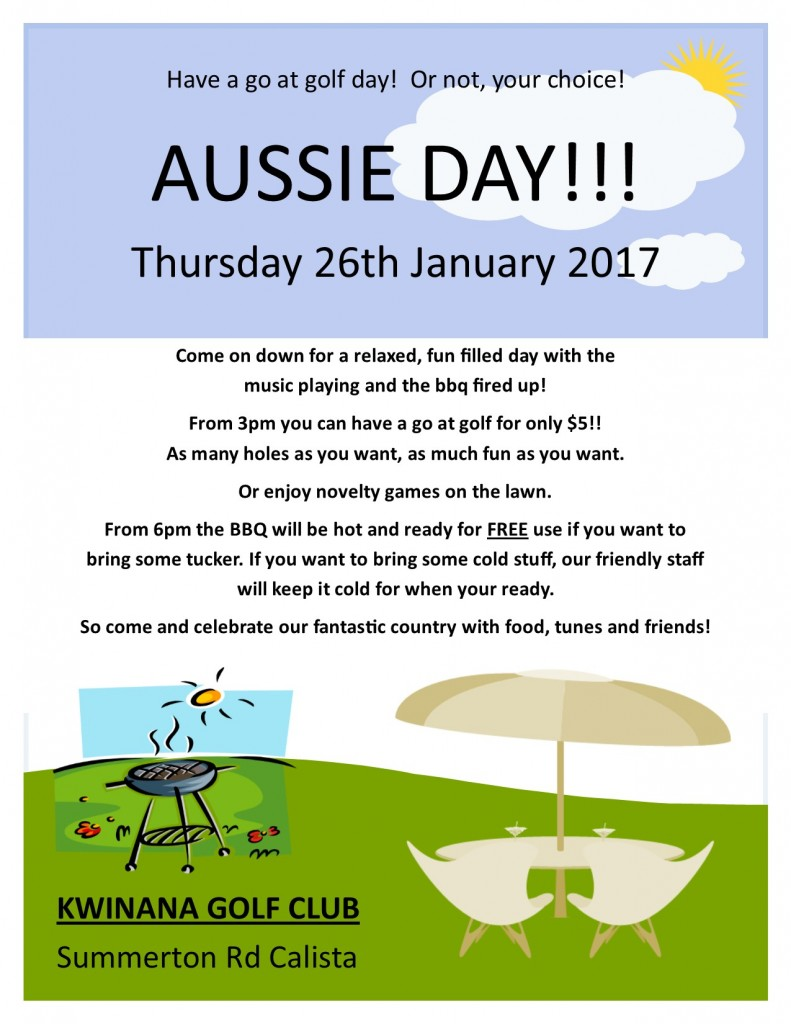 Today is Australia Day! – c'mon on down!