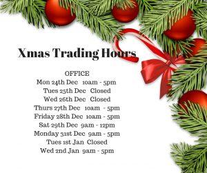 2018 Xmas trading hours