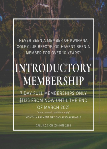 NEW MEMBERSHIP OFFER